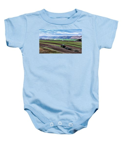 Farming In Pardise Agriculture Art By Kaylyn Franks Baby Onesie