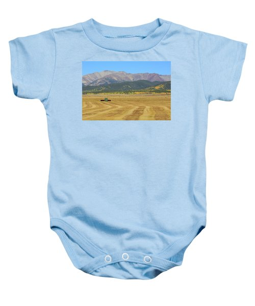 Farming In The Highlands Baby Onesie by David Chandler