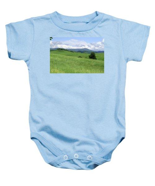 Fields And Hills  Baby Onesie