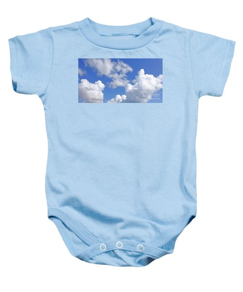 Baby Onesie featuring the digital art Finding Focus Sky by Francesca Mackenney