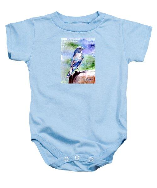 Firehole Bridge Bluebird - Female Baby Onesie