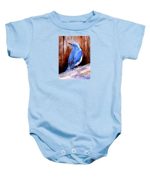 Firehole Bridge Bluebird - Male Baby Onesie