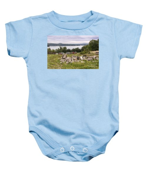 Firewood And Ice Houses Baby Onesie