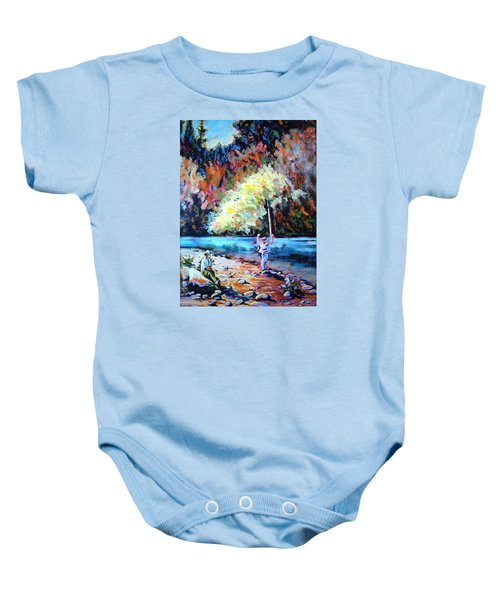 Fishing Painting Catch Of The Day Baby Onesie