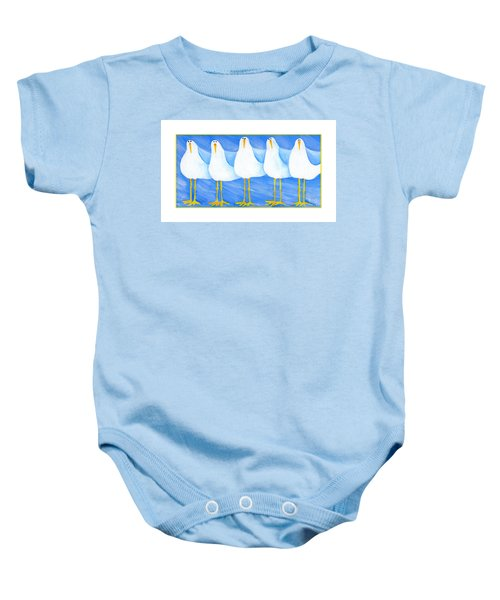 Five Seagulls Baby Onesie