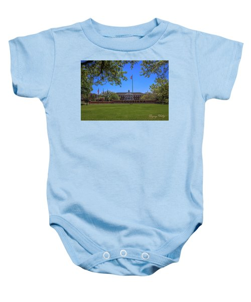 Flag At Entrance Baby Onesie