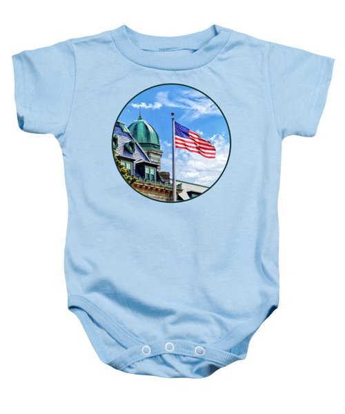 Flag Flying Over Tecumseh Court Baby Onesie