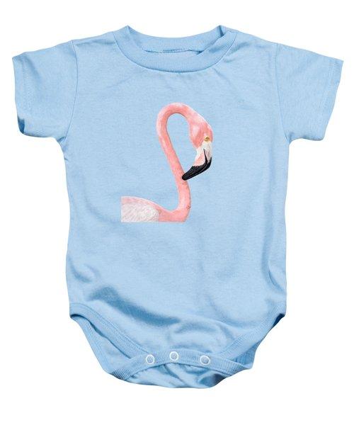 Flamingo Baby Onesie by Rita Palmer