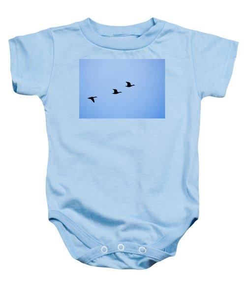Flight Of Three Baby Onesie