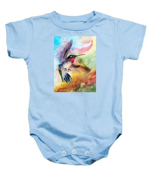 Da198 Flit The Hummingbird By Daniel Adams Baby Onesie