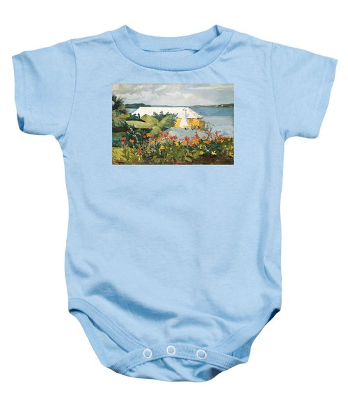 Flower Garden And Bungalow Baby Onesie