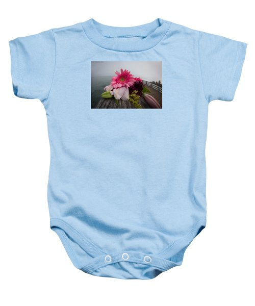 Baby Onesie featuring the photograph We All Die Sometime by Lora Lee Chapman