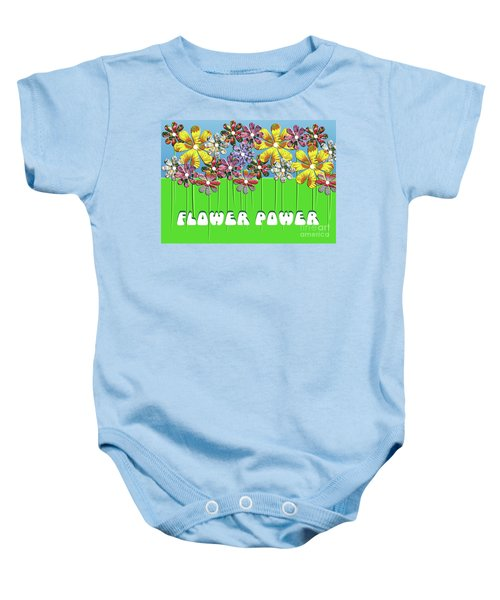 Flower Power Baby Onesie