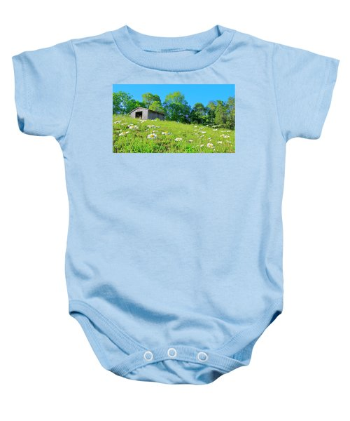 Flowering Hillside Meadow - View 2 Baby Onesie