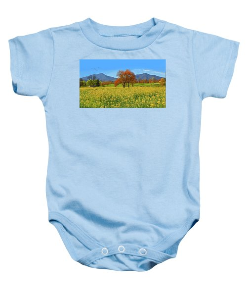 Flowering Meadow, Peaks Of Otter,  Virginia. Baby Onesie