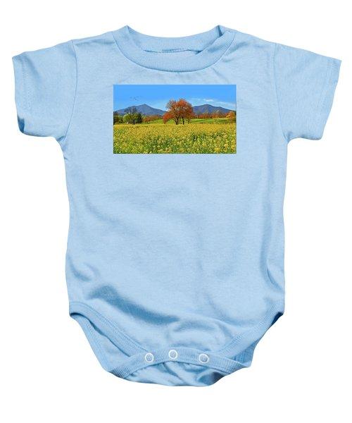 Flowering Meadow, Peaks Of Otter,  Virginia. Baby Onesie