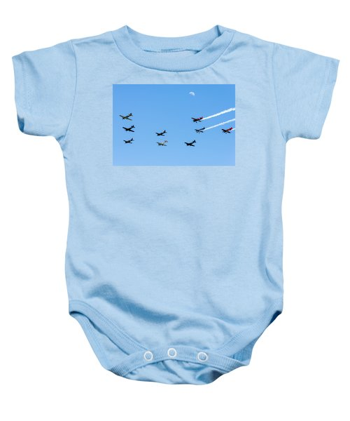 Fly Me To The Moon Baby Onesie by Marco Oliveira