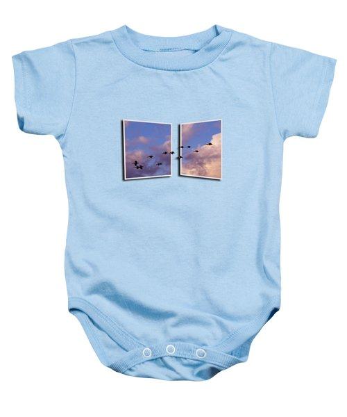 Flying Across Baby Onesie by Roger Wedegis