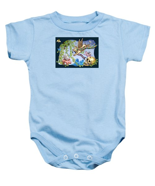 Flying Pig Party 2 Baby Onesie