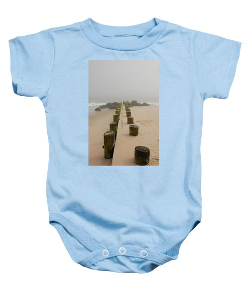 Fog Sits On Bay Head Beach - Jersey Shore Baby Onesie