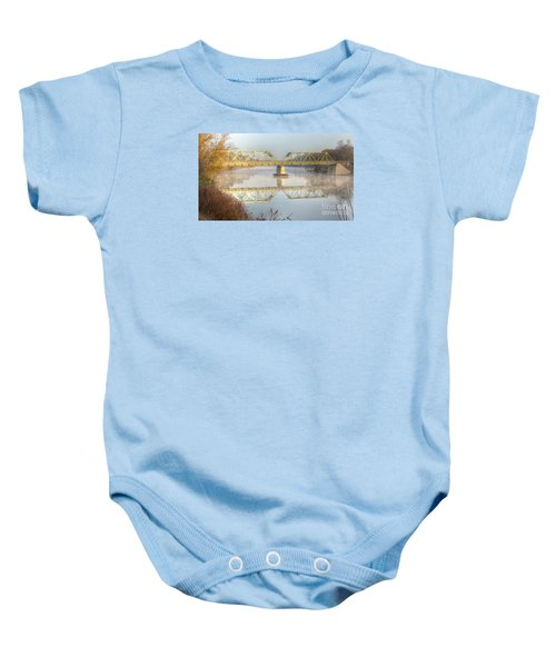 Foggy Mornin' Bridge Baby Onesie