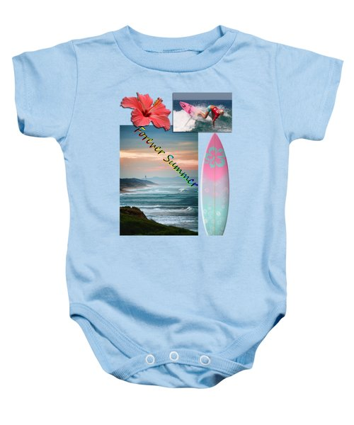 Baby Onesie featuring the photograph Forever Summer 5 by Linda Lees