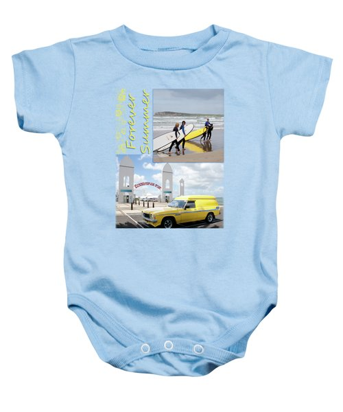 Baby Onesie featuring the photograph Forever Summer 6 by Linda Lees