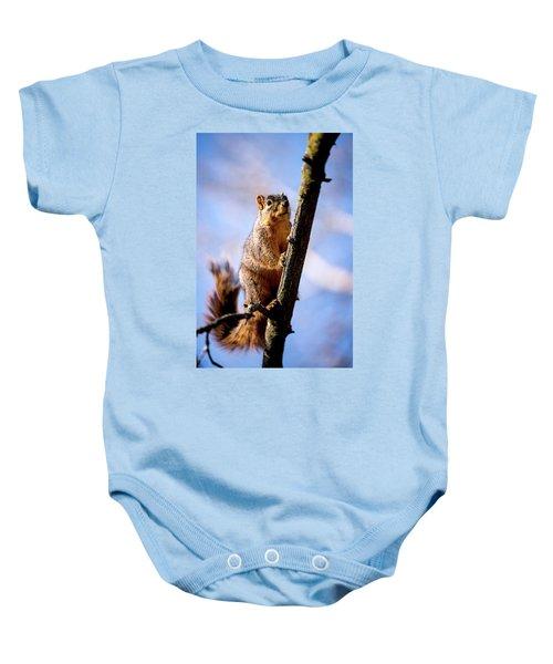 Fox Squirrel's Last Look Baby Onesie