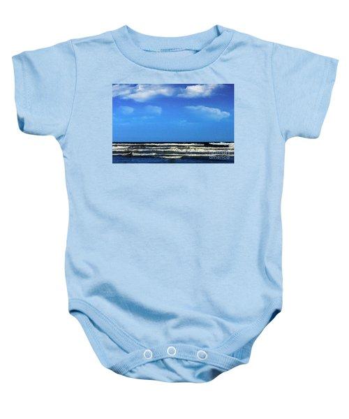 Freeport Texas Seascape Digital Painting A51517 Baby Onesie