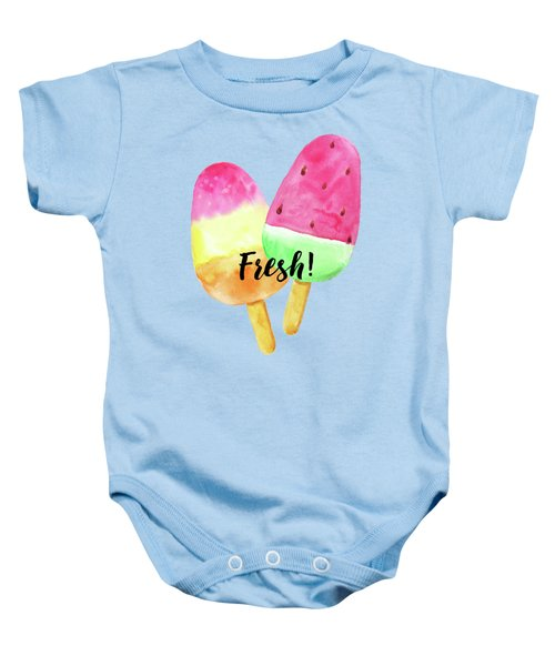 Fresh Summer Refreshing Fruit Popsicles Baby Onesie by Tina Lavoie
