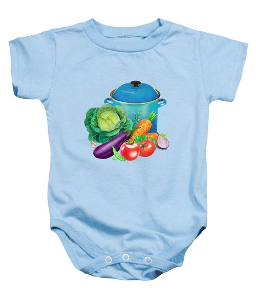 Fresh Vegetable Bounty Baby Onesie
