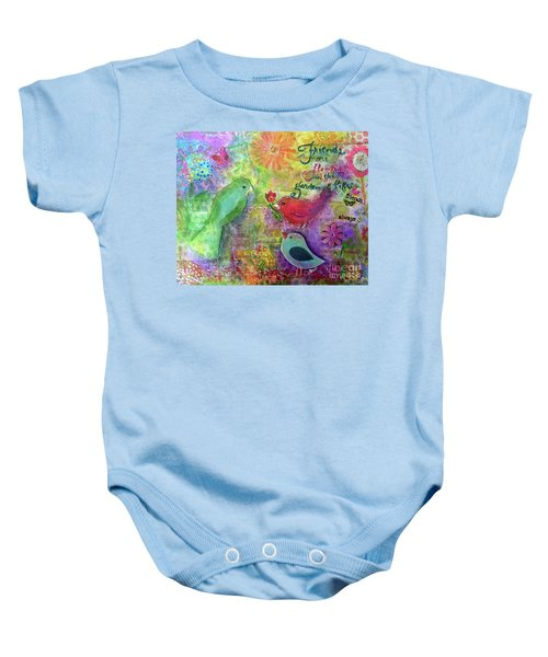 Friends Always Together Baby Onesie