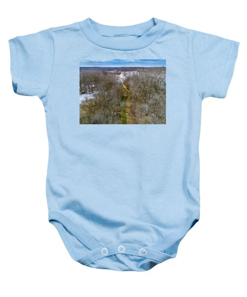 From Woods To Snow Baby Onesie