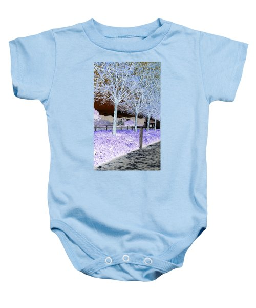 Frosty Trees At The Getty Baby Onesie