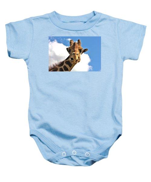 Funny Face Giraffe Baby Onesie