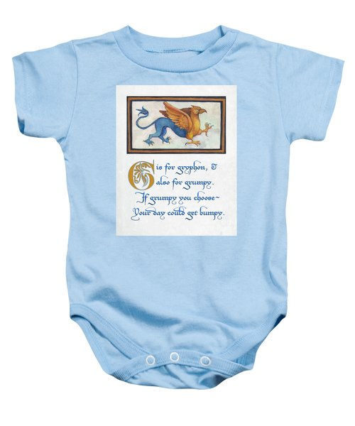 G Is For Gryphon Baby Onesie