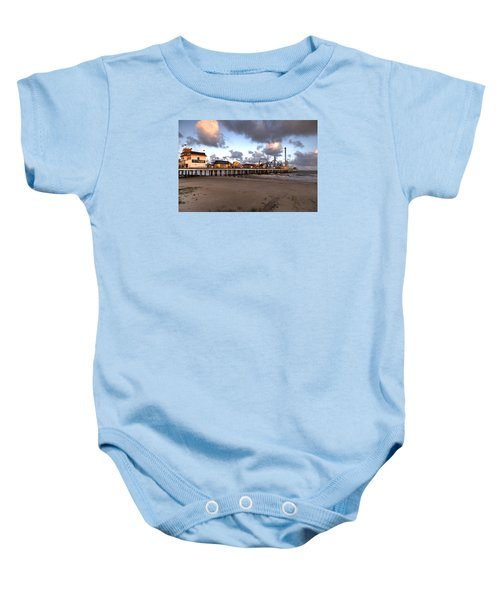 Galveston Island Historic Pleasure Pier Baby Onesie