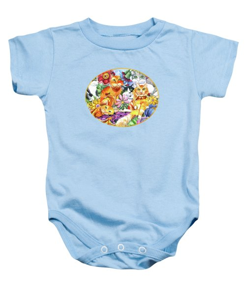 Garden Party Baby Onesie by Shelley Wallace Ylst