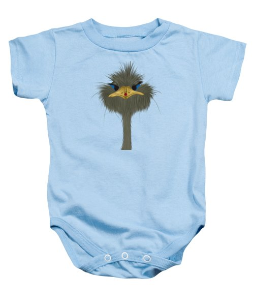 George And His Visitor  Baby Onesie by Michelle Brenmark