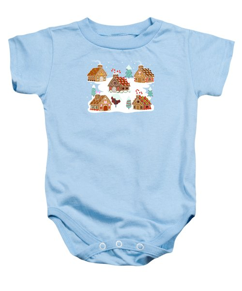 Gingerbread Village Baby Onesie