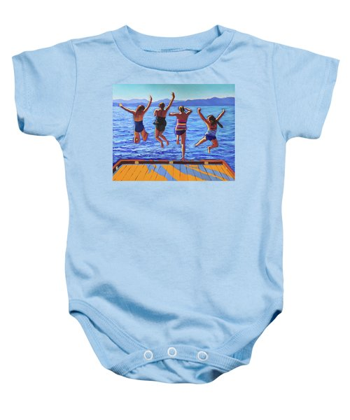 Girls Jumping Baby Onesie