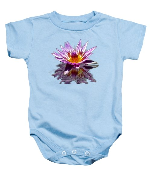 Glowing Lilly Flower Baby Onesie by Shane Bechler