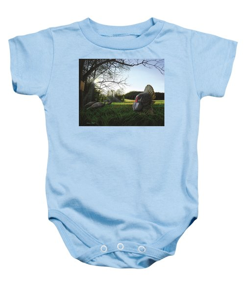 Gobbler's Morning Dance Baby Onesie