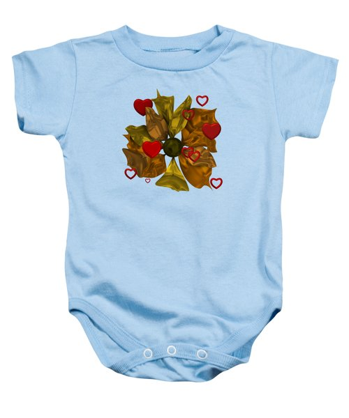 Golde Flower With Love Baby Onesie