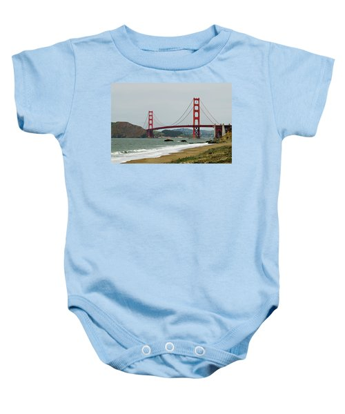 Golden Gate Bridge From Baker Beach Baby Onesie