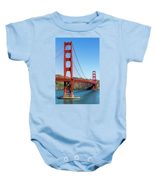 Golden Gate Bridge On Sunny Morning Baby Onesie