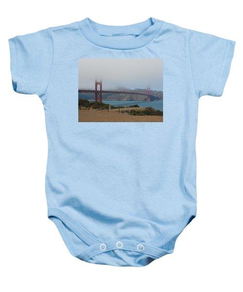 Golden Gate In The Clouds Baby Onesie