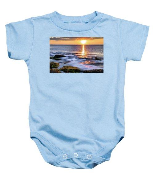 Golden Light Sunset, Rockport  Ma. Baby Onesie