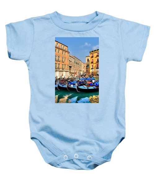 Gondolas In The Square Baby Onesie