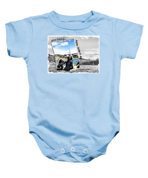 Gone Fishing Father's Day Card Baby Onesie